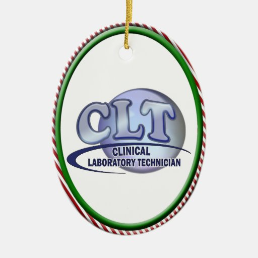CLT FunBlue LOGO - CLINICAL LABORATORY TECHNICIAN Ceramic Ornament