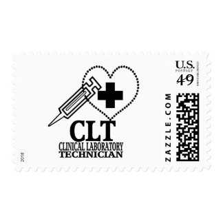 CLT HEART SYRINGE CLINICAL LAB TECH POSTAGE