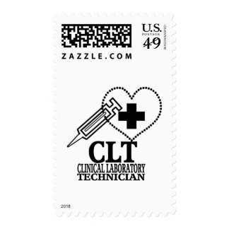 CLT HEART SYRINGE CLINICAL LAB TECH STAMPS