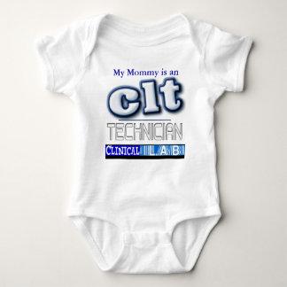 CLT LOGO - CLINICAL LABORATORY  TECHNICIAN BABY BODYSUIT