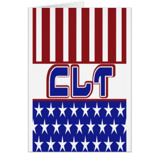 CLT PATRIOTIC CLINICAL LAB TECH USA FLAG CARD