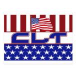 CLT PATRIOTIC CLINICAL LAB TECH USA FLAG POSTCARD
