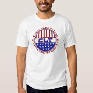 CLT PATRIOTIC CLINICAL LAB TECH USA FLAG SHIRT