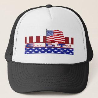 CLT PATRIOTIC CLINICAL LAB TECH USA FLAG TRUCKER HAT