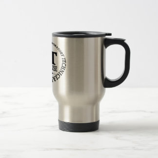 CLT SLOGAN NICE AND PRECISE CLINICAL LABORATORY 15 OZ STAINLESS STEEL TRAVEL MUG