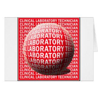 CLT SPHERE BLOOD DROP CLINICAL LABORATORY TECH CARD
