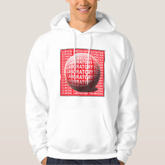 CLT SPHERE BLOOD DROP CLINICAL LABORATORY TECH HOODED PULLOVER