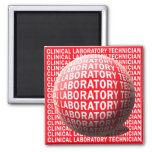 CLT SPHERE BLOOD DROP CLINICAL LABORATORY TECH 2 INCH SQUARE MAGNET