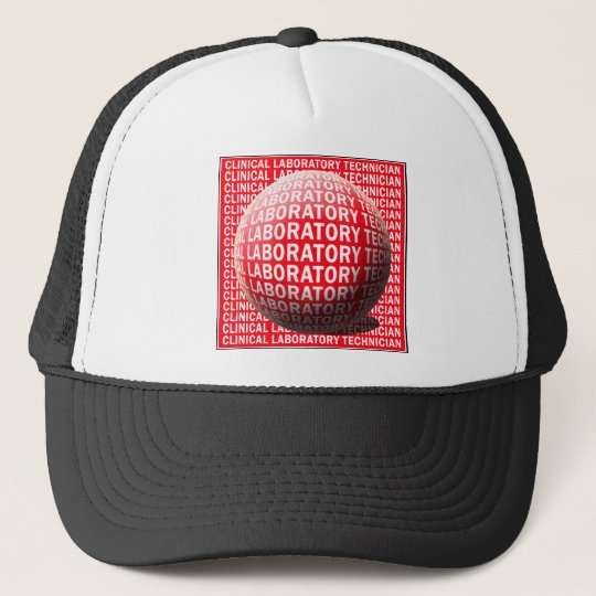 CLT SPHERE BLOOD DROP CLINICAL LABORATORY TECH TRUCKER HAT