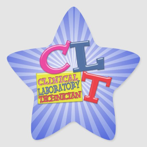 CLT WHIMSICAL LETTERS CLINICAL LABORATORY TECH STAR STICKER