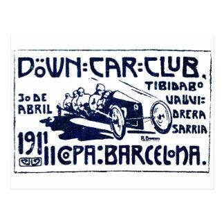 Club 1911 del coche de Barcelona Postales