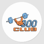 Club 300 etiqueta redonda