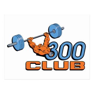 Club 300 tarjeta postal