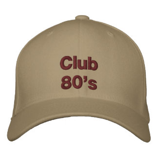 Club 80's embroidered baseball cap
