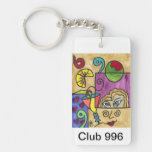 """""""Club 996"""" LLAVERO original del diseño del arte"""