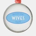 Club a estrenar de las esposas (azul) ornamento para reyes magos