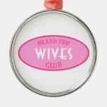Club a estrenar de las esposas (rosa) ornamento para reyes magos