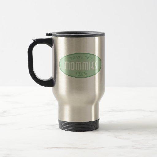 Club a estrenar de las mamás (verde) taza de viaje de acero inoxidable