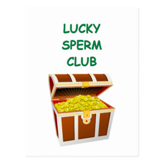 club afortunado de la esperma tarjetas postales