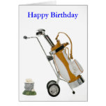 club and balls, Happy Birthday Stationery Note Card