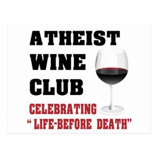 Club ateo del vino tarjetas postales