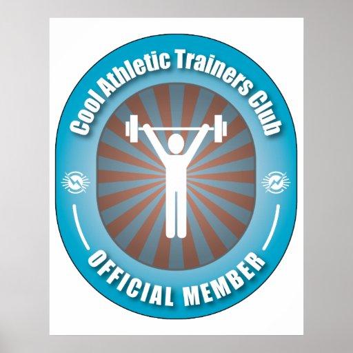 Club atlético fresco de los instructores poster