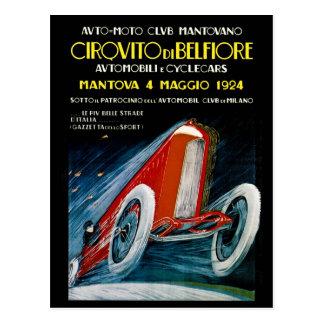 Club auto Mantovano 1924 retro de Moto Postales