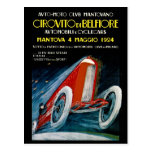 Club auto Mantovano 1924 retro de Moto Tarjeta Postal