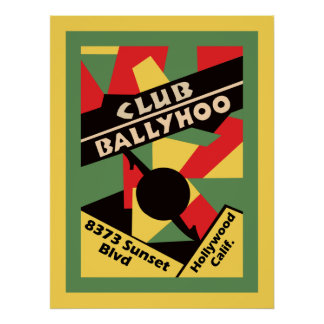 Club Ballyhoo on Sunset Strip Poster