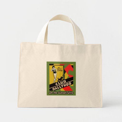 Club Ballyhoo on the Sunset Strip Canvas Bag