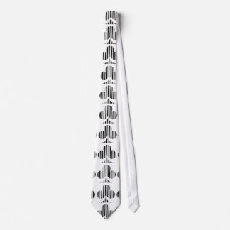CLUB BAR CODE Playing Card Suit Barcode Pattern Tie