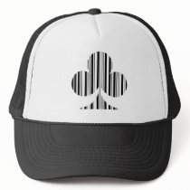 CLUB BAR CODE Playing Card Suit Barcode Pattern Trucker Hat