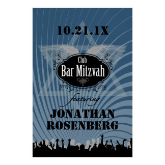 Club Bar Mitzvah Poster in Blue