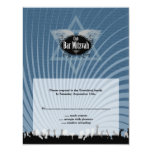 Club Bar Mitzvah Reply Card in Blue Personalized Invites