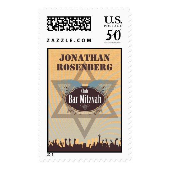 Club Bar Mitzvah Stamp, Large Postage
