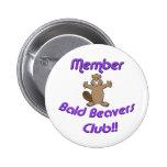 Club calvo de los castores del miembro pin