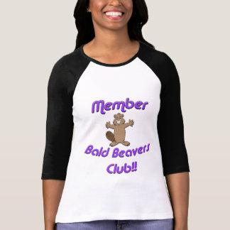 Club calvo de los castores del miembro camiseta