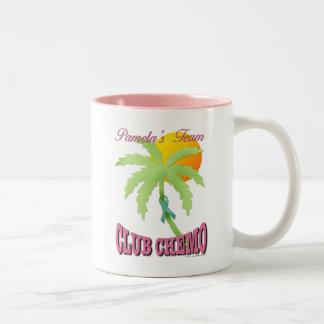 Club Chemo - Teal Coffee Mugs