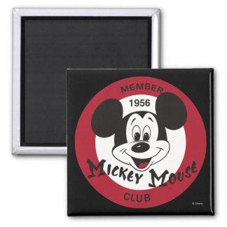 Club clásico de Mickey el | Imán Cuadrado