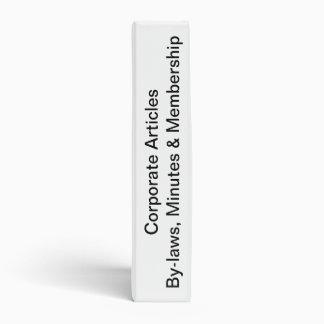 Club Corporate Book 3 Ring Binders