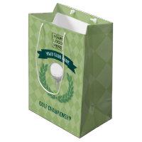 Club/Corporate Golf Tournament add logo gift favor Medium Gift Bag