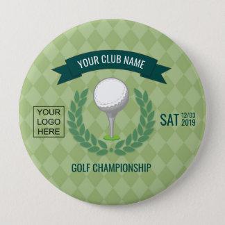 Club/Corporate Golf Tournament add logo Pinback Button