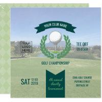 Club/Corporate Golf Tournament add photo and logo Invitation