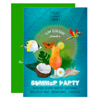 Club/Corporate Summer Cocktail Party Invitation