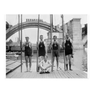 Club Crew, 1921 del barco de Potomac Postales