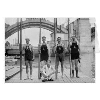 Club Crew, 1921 del barco de Potomac Tarjeta De Felicitación