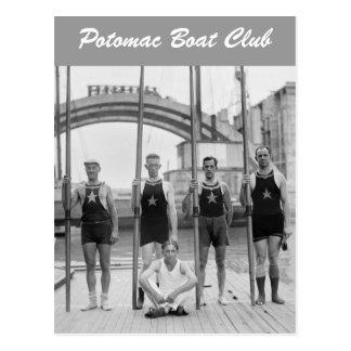 Club Crew 1921 del barco de Potomac Tarjetas Postales