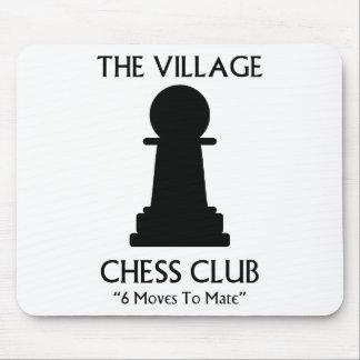 Club de ajedrez del pueblo alfombrilla de raton