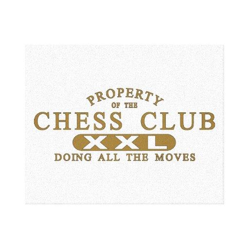 Club de ajedrez impresión de lienzo