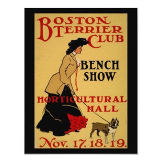 """Club de Boston Terrier Invitación 4.25"""" X 5.5"""""""
